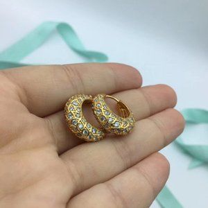 Pandora Sparkling Pattern Hoop Earrings